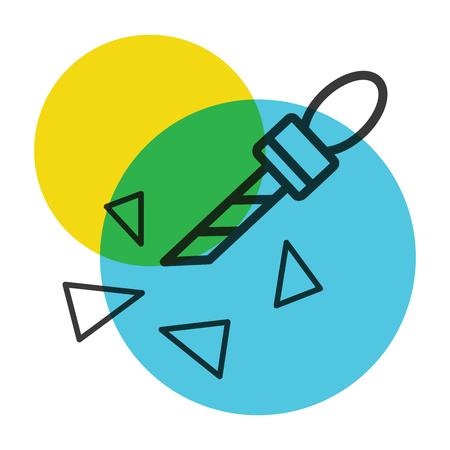 Cutter icon color mark illustration.