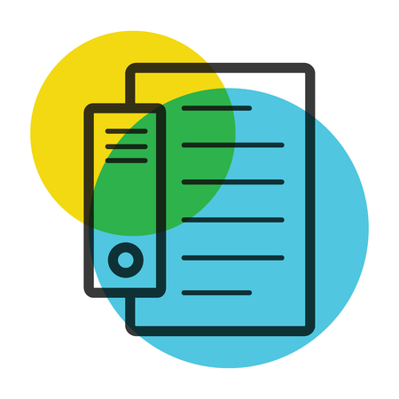 Document file icon color mark illustration. Illustration