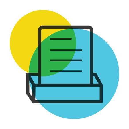 Document file icon color mark