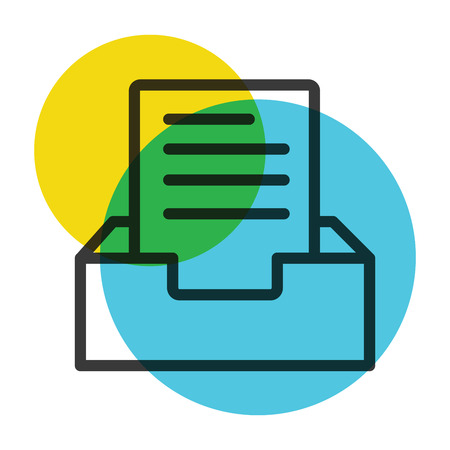 Document file icon color mark