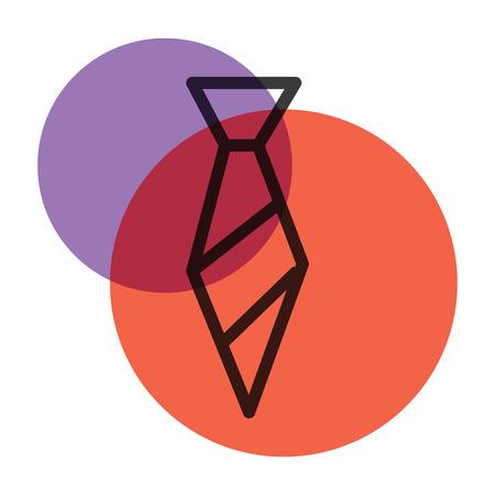 Office uniform vector icon color mark Illustration