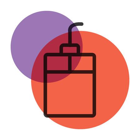 A computer icon color mark illustration.