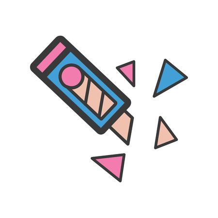 Cutter icon cartoon style