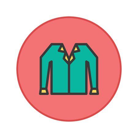 Shirts office uniform vector icon button