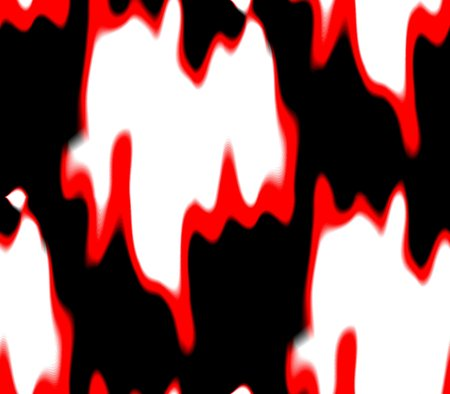 fire surround: Seamless abstract background in black, pink and white, red spots and lines, holes and blots with long tails and meek, gentle and spirited