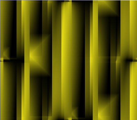Abstract seamless background of yellow with dark and light squares, lines, pattern convex