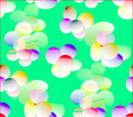 Abstract seamless background in orange, yellow, brown, green, red, blue and white colors colored ovals, circles and balls
