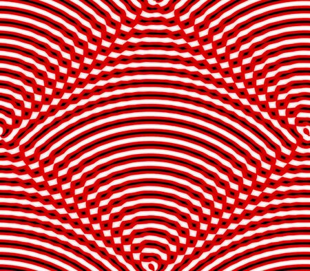 cast in place: Abstract seamless background pattern of rows placed strips and dots, spots in white, red and black