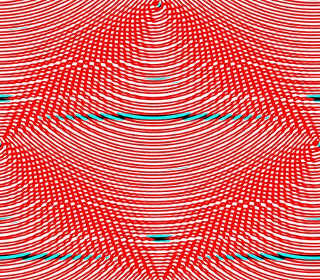 cast in place: abstract seamless background rows of strips are placed red and white pattern Stock Photo