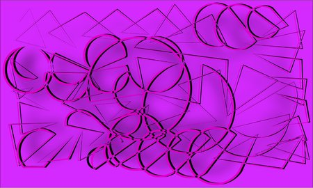 facsimile: abstract purple and gray cords piles heaped and intertwined with each other on a purple background