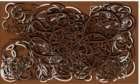 cords: abstract background brown and beige cords piles heaped and intertwined with each other on a brown background