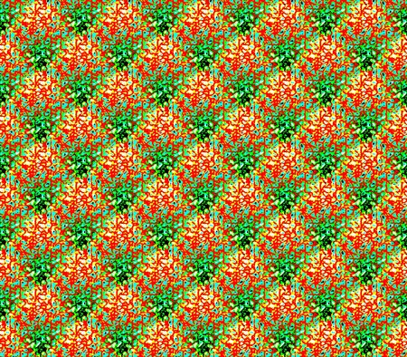 Abstract seamless background with red, blue and green twisted strips laid out in a diamond pattern and creating rows Stock Photo