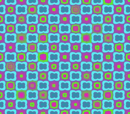 Abstract seamless pink background pattern of blue with a blue stroke, stroke pink with yellow, yellow with pink stroke Stock Photo