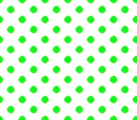 Abstract seamless green background with dark green balls green stroke placed in rows, a rectangular pattern