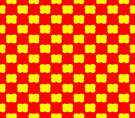 yellow teeth: Abstract seamless red background with yellow flowers lined in rows to form a continuous pattern