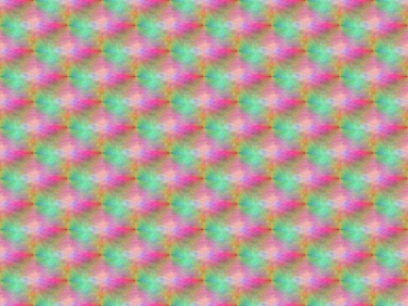Abstract seamless background of green and blue, red and pink and yellow and gray spots, lines and rows of holes arranged around the drawing