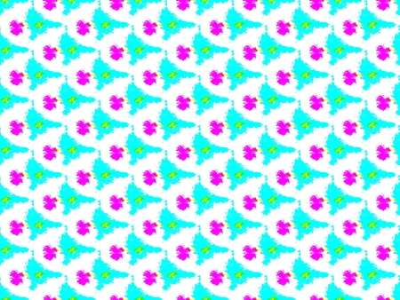 Abstract seamless pattern of blue and white and pink spots, lines and rows of holes arranged around the drawing Reklamní fotografie