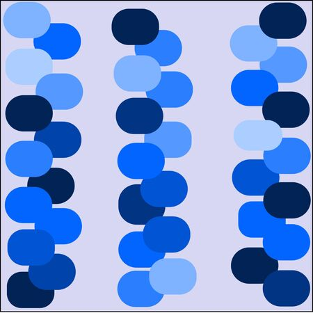 laid: abstract blue background bright blue and dark circles are laid out in rows on large drawing