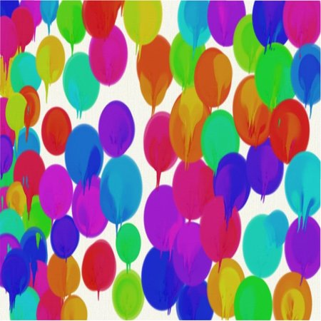 Abstract pattern of colored dots red and yellow and green and blue flowing dyes