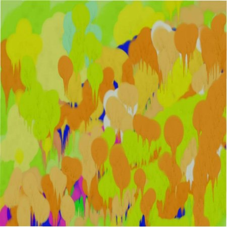 Abstract pattern of colored spots and lines, circles and dots of blue and yellow and green flowing colors Illustration