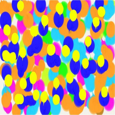 artist's canvas: Abstract background of blue and green and pink and yellow and orange flowing paint light and dark spots throughout the drawing