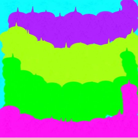 artist's canvas: Abstract background of a sea of ??blue and green and pink and yellow flowing colors of light and dark spots of the wave throughout the drawing