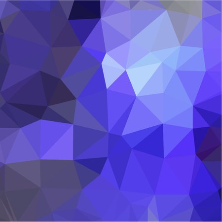 the throughout: Dark blue abstract background of small triangles polygon blue and gray fragments light and dark sharp throughout the drawing
