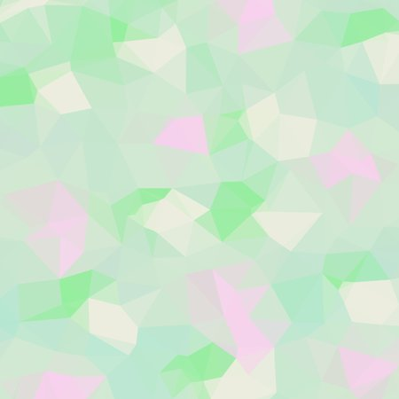 the throughout: Abstract background of small triangles polygon blue and pink and white and green fragments light and dark sharp throughout the drawing