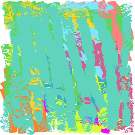 Abstract hand writing textures in green and blue and yellow and pink and brown tones, design for postcards and banners and  and posters