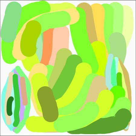 Abstract writing texture in green and blue and yellow and pink and brown tone, design for postcards and banners and posters.