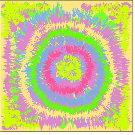 Circular pink and blue and yellow and green tone, design for greeting cards and banners and posters
