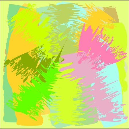 fresco: Abstract writing texture pink and blue and yellow and green tone, design for greeting cards and banners and posters Illustration
