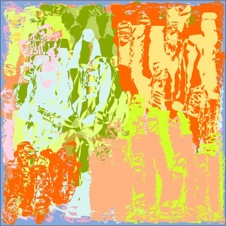Abstract texture bright yellow and blue and green and pink in light and dark tone, design for greeting cards and banners and posters