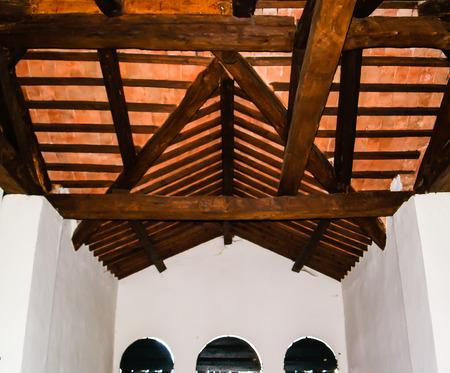 exposed: Exposed ceiling beams in a 18th century venetian villa