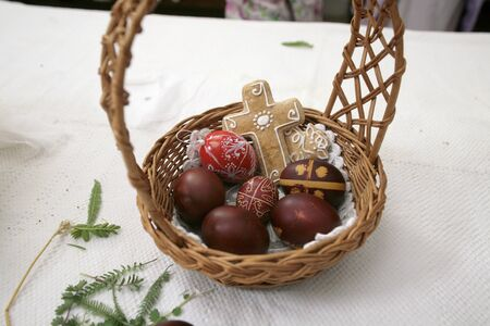 paschal: Easter eggs in the basket