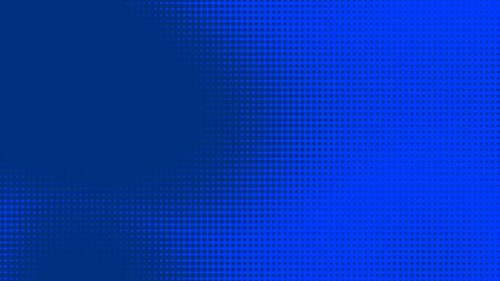 Dots halftone blue color pattern gradient texture with technology digital background. Dots pop art comics style with summer concept design.