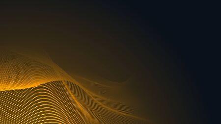 Dot orange wave light screen gradient texture background. Abstract  technology big data digital background. 3d rendering. Foto de archivo