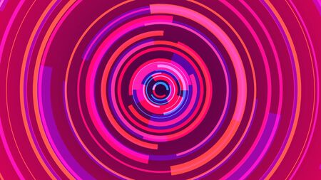 Circle pink neon lines technology Hi-tech blue background. Abstract graphic digital future concept design.