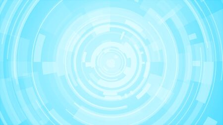 Circle white blue bright technology Hi-tech background. Abstract graphic digital future concept design. Stockfoto