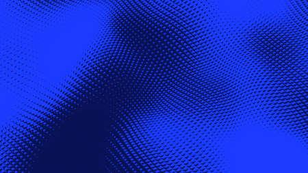 Dot blue wave light screen gradient texture background. Abstract  technology big data digital background. 3d rendering. Reklamní fotografie