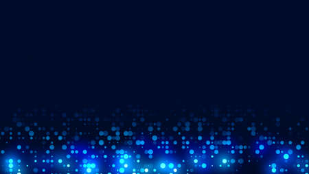 Dot blue pattern screen led light gradient texture background. Abstract  technology big data digital background. 3d rendering. Banque d'images - 152528949