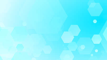 Hexagon geometric white blue pattern bright healthcare medical and technology background. Abstract graphic digital future science concept design. 写真素材