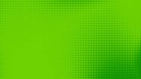 Dots halftone green color pattern gradient texture with technology digital background. Dots pop art comics with nature graphic design. 写真素材