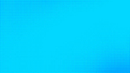 Dots halftone blue color pattern gradient texture with technology digital background. Dots pop art comics with summer background. Stock Photo