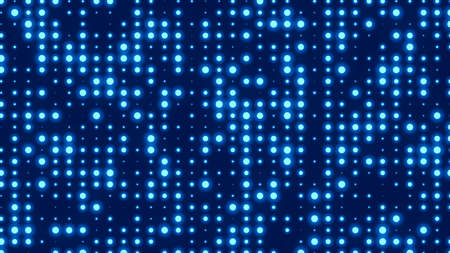 Dot white blue pattern screen led light gradient texture background. Abstract technology big data digital background. 3d rendering.
