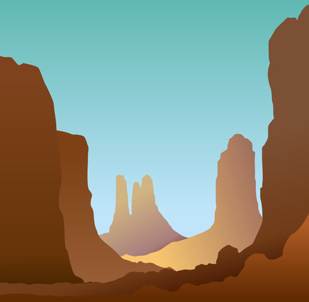 monument valley: Monument Valley Arizona on a sunny day, EPS 8 vector