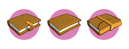 clasp: Notebooks of various kinds.  Vector illustration. EPS 8