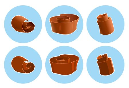 shavings: Realistic chocolate shavings icon. Vector EPS 10