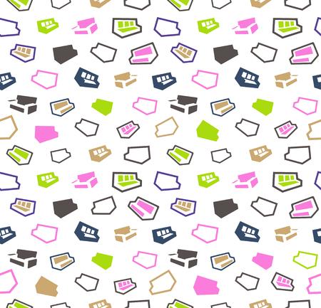divan: sofas seamless pattern background. Illustration