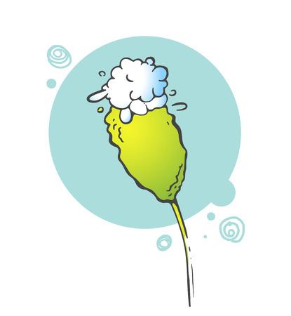flower card: Flowers floral background. Herbal illustration